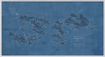 Picture of Map - Motorboat Guide of Muskoka Lakes - Blue - Large