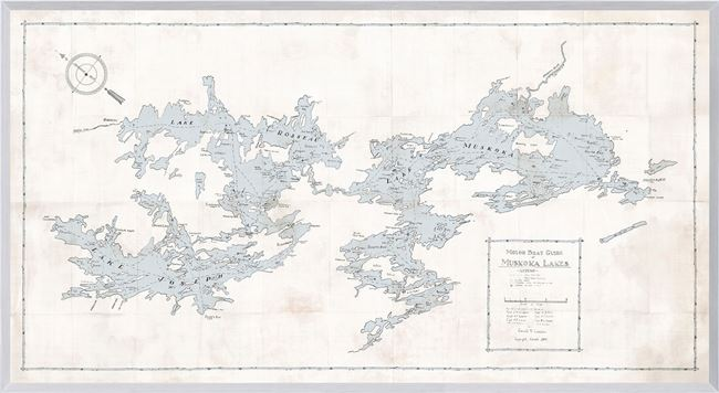Picture of Map - Motorboat Guide of Muskoka Lakes - Natural - Large