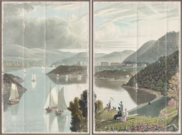 Picture of Washington Valley - West Point 1834 Diptych