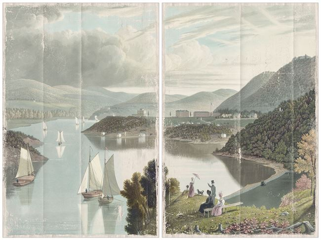 Picture of Washington Valley - West Point 1834 Diptych - Gallery Wrap Canvas Mid