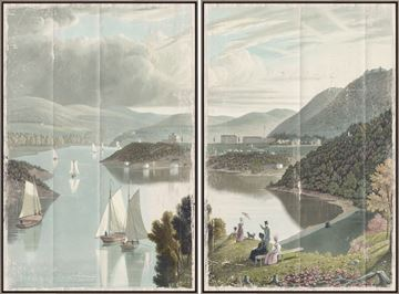 Picture of Washington Valley - West Point 1834 Diptych - Framed Canvas
