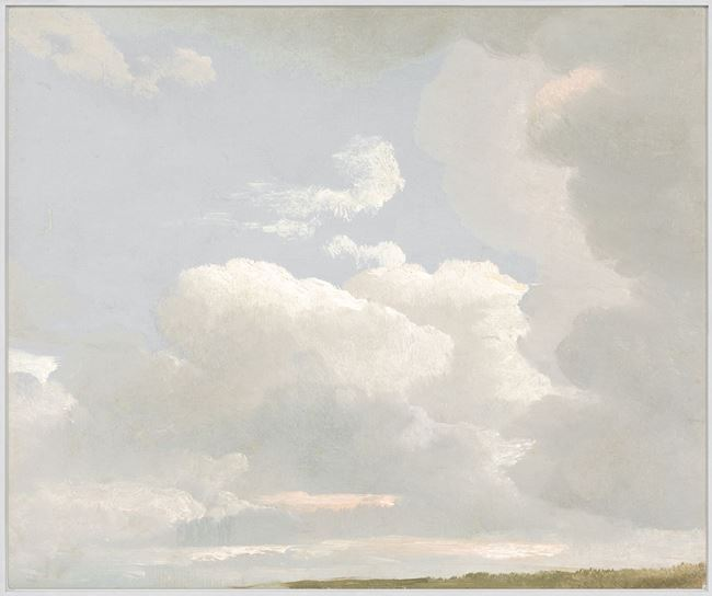 Picture of Cloud Study, 1800s - Framed Canvas