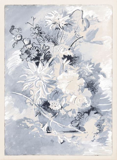 Picture of Floral Gesture in Delft I - Gallery Wrap Canvas