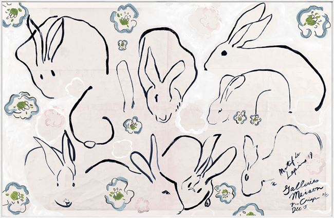 Picture of Lapins, Lapins - Framed Canvas