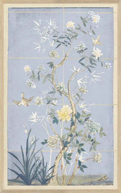 Picture of Chinoiserie Scenic, Blue Hue II - Small