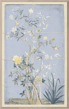 Picture of Chinoiserie Scenic, Blue Hue I - Medium