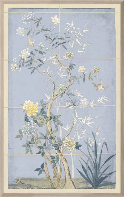 Picture of Chinoiserie Scenic, Blue Hue I - Large