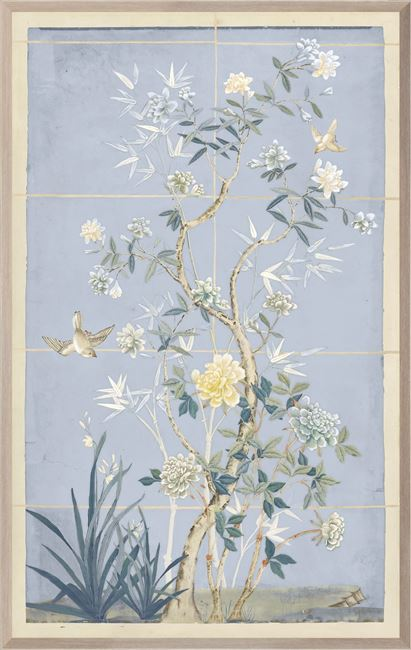 Picture of Chinoiserie Scenic, Blue Hue II - Large