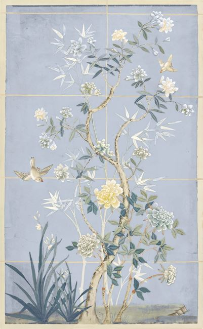 Picture of Chinoiserie Scenic, Blue Hue II - Gallery Wrap Canvas