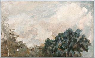 Picture of Cloud Study with Trees C. 1821 - Framed Canvas