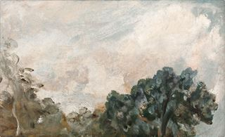 Picture of Cloud Study with Trees C. 1821 - Gallery Wrap Canvas