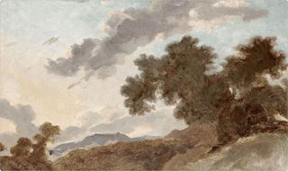 Picture of Mountain Landscape at Sunset C. 1765 - Gallery Wrap Canvas