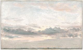 Picture of Sunset Study C. 1821 - Framed Canvas