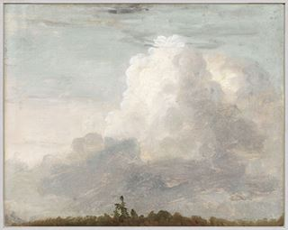 Picture of Clouds C. 1838 - Framed Canvas