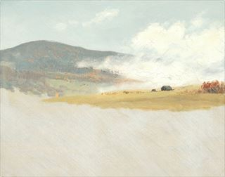 Picture of Hilly Landscape C. 1865-75 - Gallery Wrap Canvas