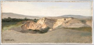 Picture of Italian Landscape C. 1825-28 - Framed Canvas