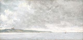Picture of Coastal Scene with Cliffs C. 1814 - Gallery Wrap Canvas