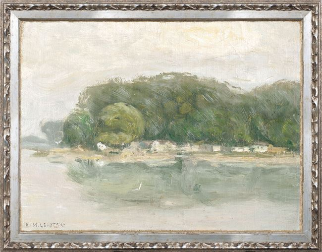 Picture of Petite Scapes - Bank on the Danube C. 1900