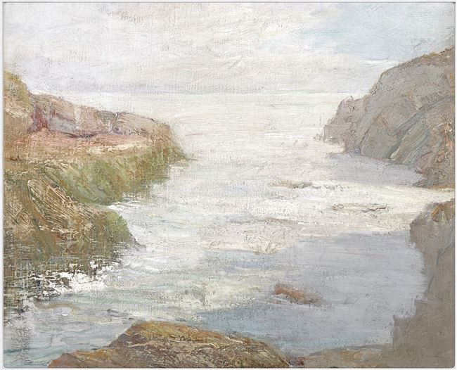 Picture of At Low Tide, C. 1841 - Framed Canvas