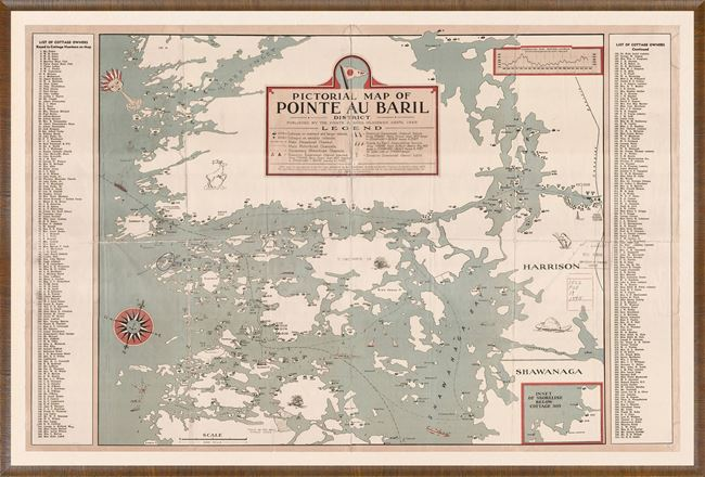 Picture of Map - Pointe Au Baril - 1945