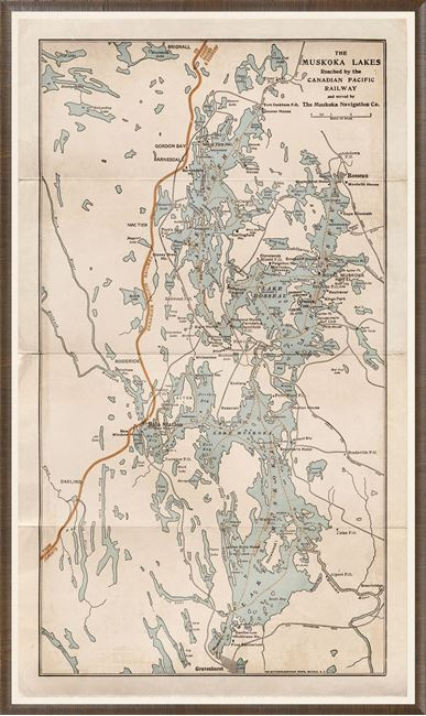 Picture of Map - C.P.R. Muskoka Lakes - 1952