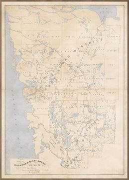 Picture of Map - Muskoka & Parry Sound - 1879 - Framed Canvas