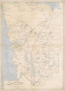 Picture of Map - Muskoka & Parry Sound - 1879 - Gallery Wrap Canvas