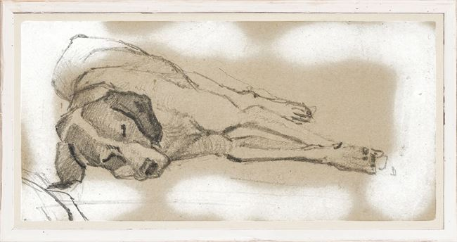 Picture of Study of a Sleeping Dog I - Large