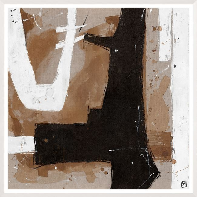 Picture of Umber Connection On Linen II - Large