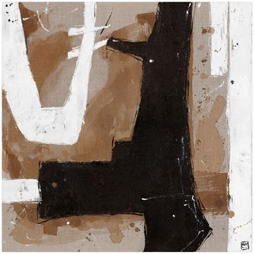 Picture of Umber Connection On Linen II - Gallery Wrap Canvas