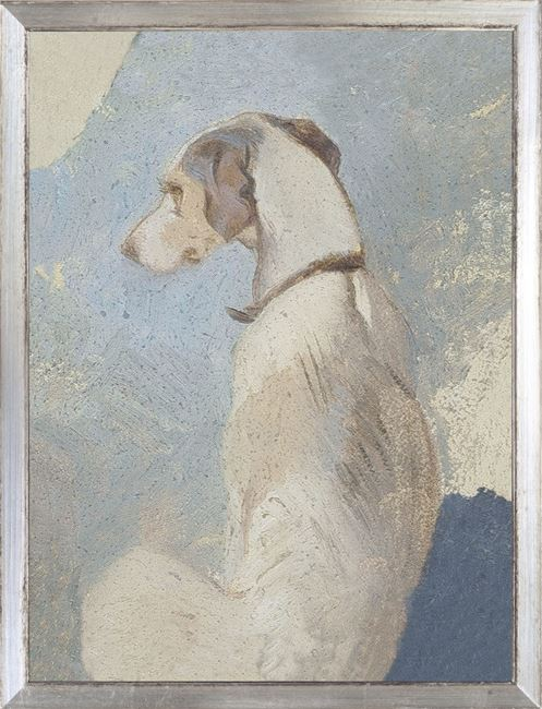 Picture of Collection Vintage - Study of a Greyhound, 1860 - Small