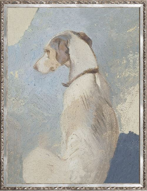 Picture of Collection Vintage - Study of a Greyhound, 1860 - Large
