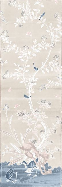 Picture of Chinoiserie Panel I C. 1890 - Pastel - Gallery Wrap Canvas