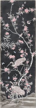 Picture of Chinoiserie Panel II C. 1890 - Charcoal - Gallery Wrap Canvas