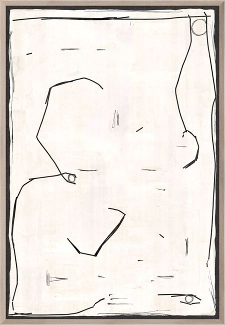 Picture of Modern Hieroglyph In Creme II - Large