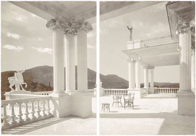 Picture of Palace Achilleion Corfu C. 1895 - Diptych - Gallery Wrap Canvas