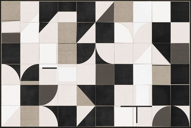 Picture of Linen Geometrics - Framed Canvas - One Piece
