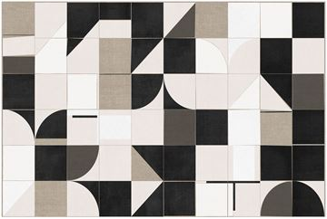 Picture of Linen Geometrics - Gallery Wrap Canvas - One Piece
