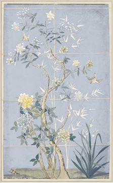 Picture of Chinoiserie Scenic, Blue Hue I - Framed Canvas